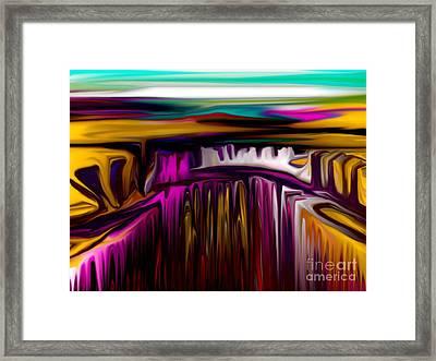 Melting Framed Print by David Lane