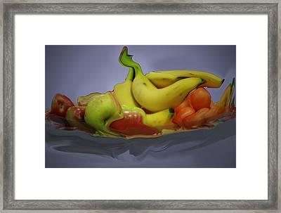 Melting Fruit Framed Print by Bill Ades