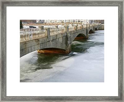 Melting Ice Framed Print