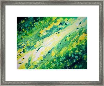 Melting Jade Framed Print by Daniel Lafferty