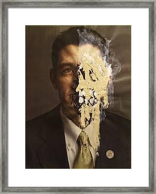Melting Man Framed Print by William Douglas