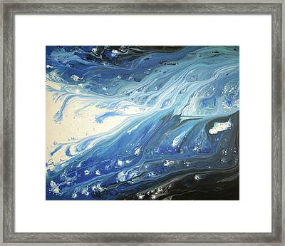 Melting Ocean Framed Print by Daniel Lafferty