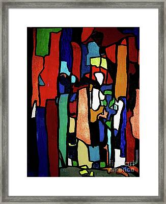 Melting Pot Abstract Framed Print by Shelly Wiseberg