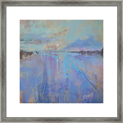 Melting Reflections Framed Print by Laura Lee Zanghetti