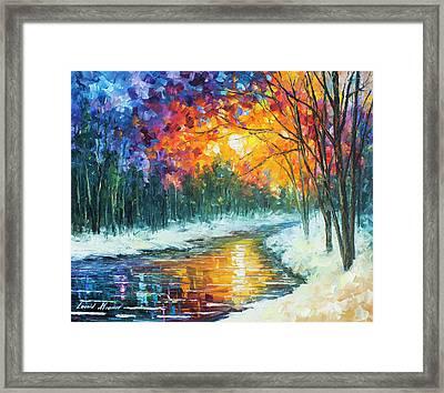 Melting River Framed Print by Leonid Afremov