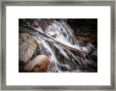 Melting Snow Falls Framed Print by Elaine Malott