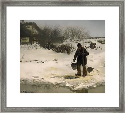 Melting Snow Framed Print