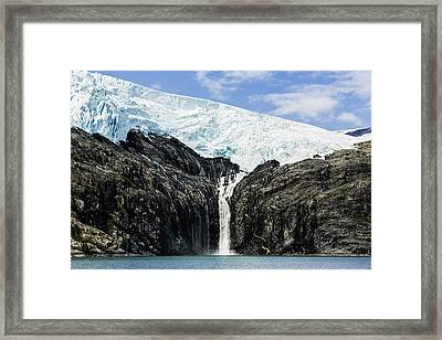 Meltwater From The Northland Glacier Framed Print by Ray Bulson