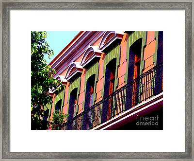 Melville Balcony By Darian Day Framed Print by Mexicolors Art Photography