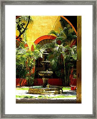 Melville Fountain Framed Print by Mexicolors Art Photography
