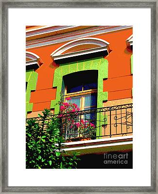 Melville Window By Darian Day Framed Print
