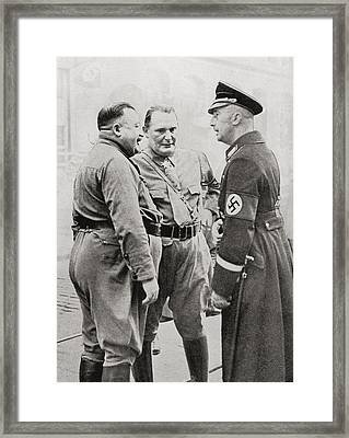 Members Of The Blood Order. From Left Framed Print