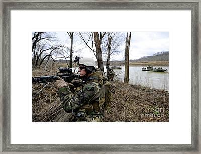 Members Of The Riverine Security Team Framed Print