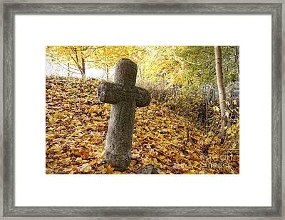 Memento - Conciliation Cross Framed Print by Michal Boubin