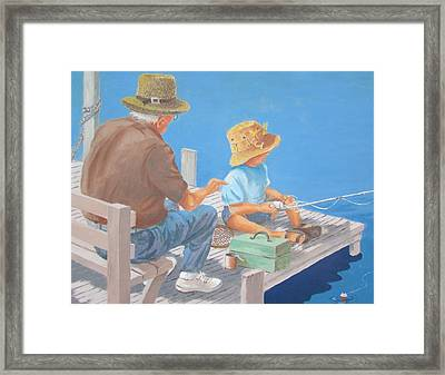 Memorable Day Fishing Framed Print by Tony Caviston