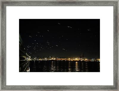 Memorable Naples Evening Departure Framed Print