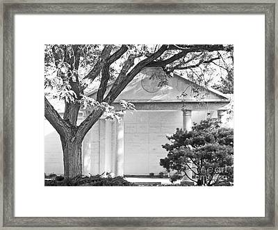Memorial At Mount Auburn Cemetery, Cambridge, Ma Framed Print