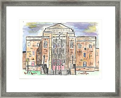 Memorial Auditorium  Framed Print by Matt Gaudian
