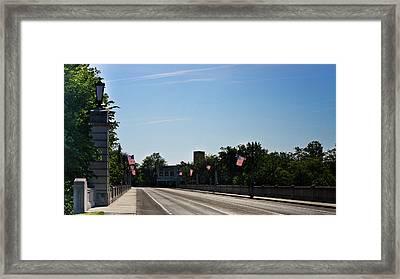 Memorial Avenue Bridge Roanoke Virginia Framed Print by Teresa Mucha