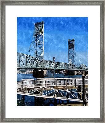 Memorial Bridge Mbwc Framed Print