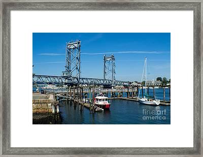 Memorial Bridge Portsmouth Framed Print by Kevin Fortier