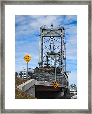Memorial Bridge Portsmouth  Nh Framed Print by Nancy De Flon