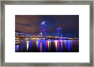 Framed Print featuring the photograph Memorial Bridge by Robert Clifford