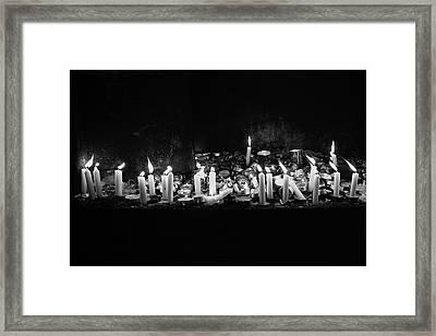 Memorial Candles II Framed Print by Yoel Koskas