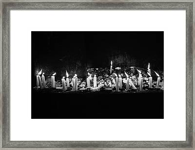 Memorial Candles II Framed Print