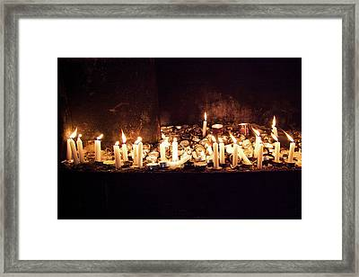 Memorial Candles Framed Print