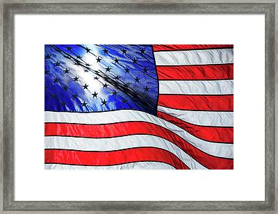 Memorial Day Flag Framed Print by Todd Klassy