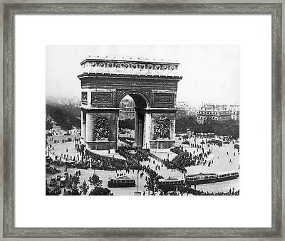 Memorial Day In France Framed Print by Underwood Archives