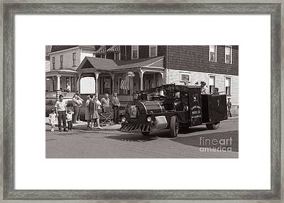 Memorial Day Parade  Ashley Pa  Corner Of W Hartford And Brown  Circa 1965 Framed Print