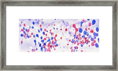 Memorial Day Service Balloon Release - Abstract Framed Print by Steve Ohlsen