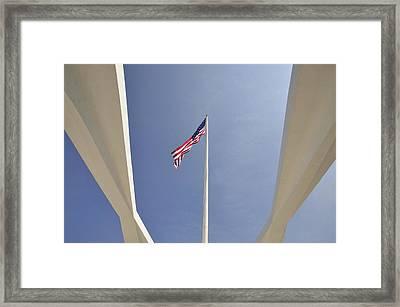 Memorial Flag Framed Print