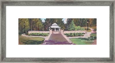 Memorial Garden Lakeside, Ohio Framed Print by Terri  Meyer