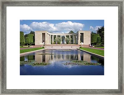 Memorial - Normandy American Cemetery Framed Print by Nikolyn McDonald
