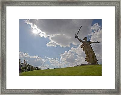 Memorial Of The Second World War In Volgograd Framed Print