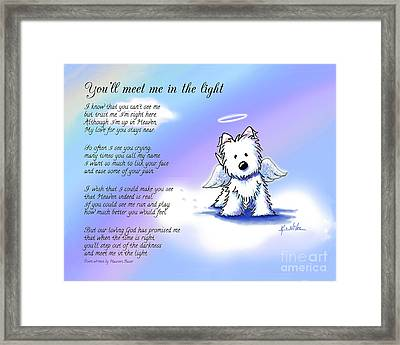Memorial Print Custom Size Framed Print by Kim Niles
