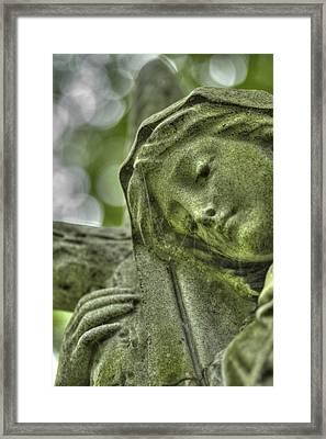 Memorial Statue Detail, Mt. Auburn Cemetery Cambridge, Ma Framed Print