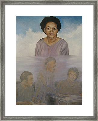Memorial To Ms. Calvin Framed Print