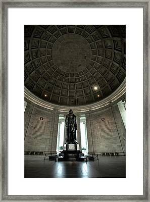 Memorial To Thomas Jefferson Framed Print by Andrew Soundarajan