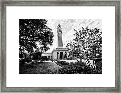 Memorial Tower - Lsu Framed Print by Scott Pellegrin