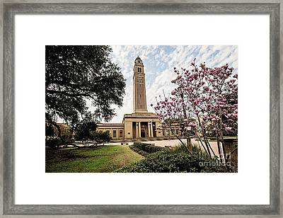 Memorial Tower - Lsu Framed Print by Scott Pellegrin