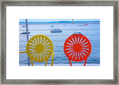 Memorial Union Terrace Chairs Framed Print
