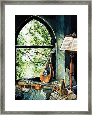 Memories And Music Framed Print by Hanne Lore Koehler