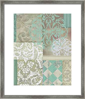 Memories And Whispers Aqua Framed Print by Mindy Sommers