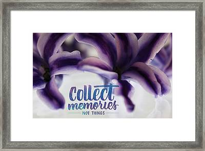 Framed Print featuring the photograph Memories by Bobby Villapando