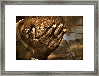Memories Etched In Stone Framed Print by Bob Salo