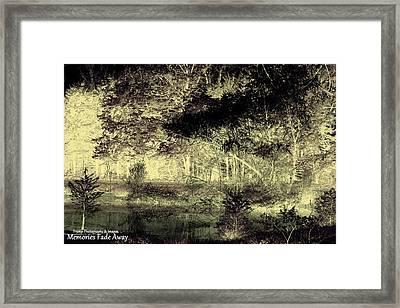 Memories Fade Away Framed Print
